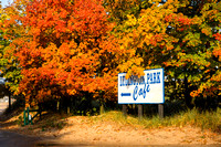 """Ludington State Park"", Ludington, michigan, sign, foilage, autumn, entrance, ""fall color"""