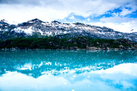 Aqua Mountains - Glacier Bay Alaska.