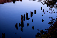 Manistee River Pilings at Twilight