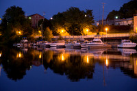 Manistee Michigan, Historic Downtown Buildings, River View