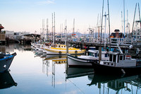 Fishermans Wharf Harbor before the Sunrise